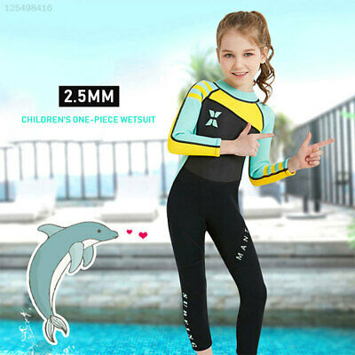 044F Durable Swimsuit Child Wetsuit 2.5mm Snorkeling Suit for DIVESIAL
