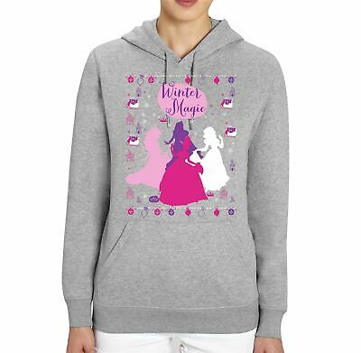 Disney Princess Winter Magic Ladies Grey Unisex Hoodie