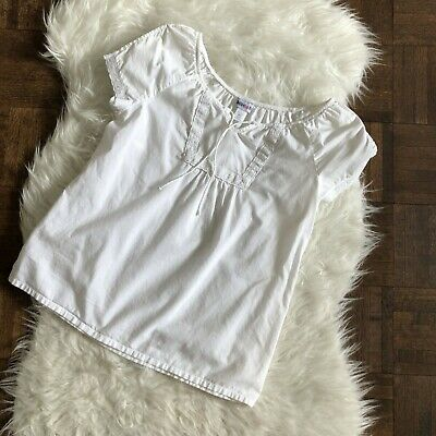 Limited Too Girls XL 16 White Short Sleeve Shirt Lace Trim