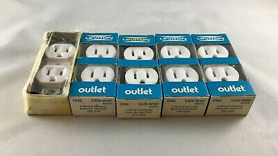 LEVITON 5320-WSP 15A 125V 3-WIRE GROUNDING DUPLEX RECEPTACLE Eagle 270W LOT OF 5