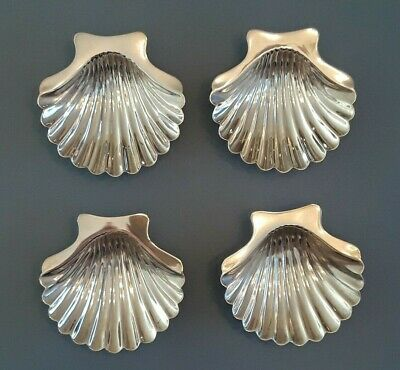 Gorham Sterling Silver Set of FOUR Shell Shape Individual Dishes