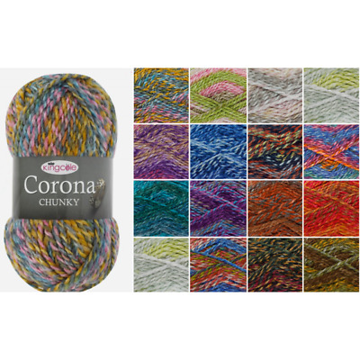 King Cole Corona Chunky Knitting Yarn Acrylic Wool 100g Wool