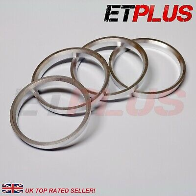 Spigot Rings ALLOY (4) 73.1mm to 56.1mm Spacers Hub 73.1 56.1