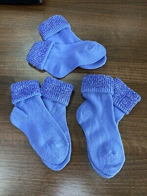 Multipack of 3 Pairs of Girls Boys warm socks Foot size 6-8.5 new