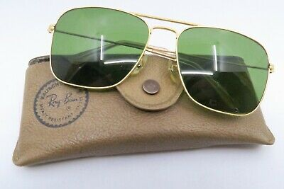 Vintage B&L Ray Ban Caravan sunglasses size 58-16 etched lens made in the USA