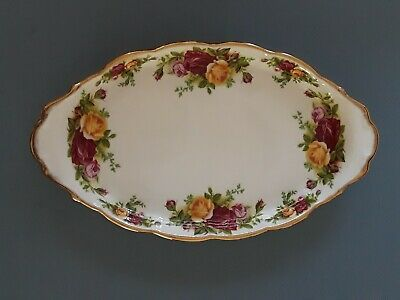 "Royal Albert Old Country Roses Oval Serving Dish Small 10"" x 5 1/2"""