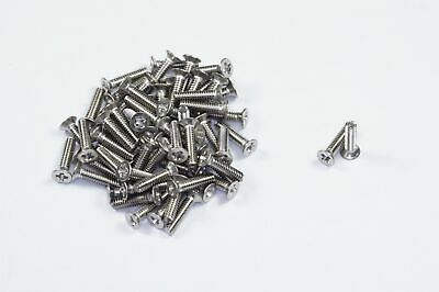 """Lot of 65 NAS662C2R6 Flat Head Phillips Machine Screw 2-56 x 3/8"""" Stainless NOS"""