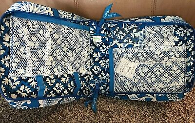 Vera Bradley Tech Charger Organizer Purse Travel Bag Book Make Up Tote NWOT Zips