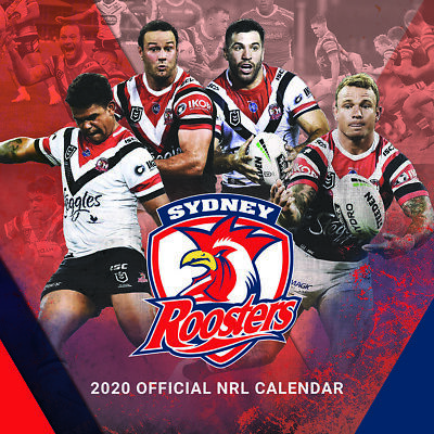 2020 NRL Sydney Roosters Square Wall Calendar by Paper Pocket 18143