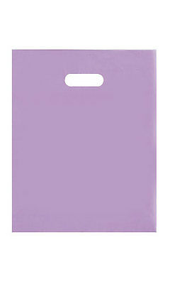 """Plastic Frosty Bags Shopping 250 12"""" x 15"""" Merchandise Lavender Purple Frosted"""