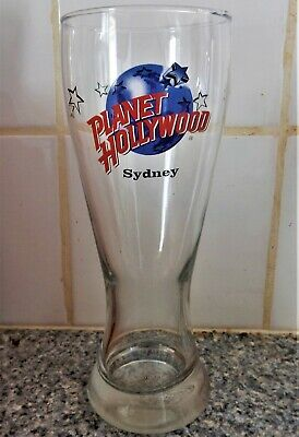 Planet Hollywood ~ SYDNEY ~ Tall Pilsner Beer Glass Excellent Condition ~ c1996
