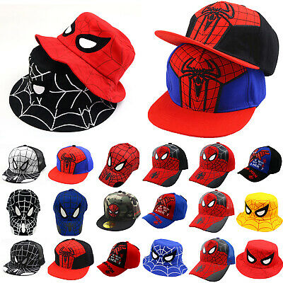 Kids Boy Spiderman Baseball Cap Sun Hat Hip Hop Bboy Bucket Mesh Fishing Caps