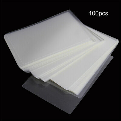 100 Letter Thermal Laminating Pouches Sheets Film Clear 4/6/8/10 inch A4 Size