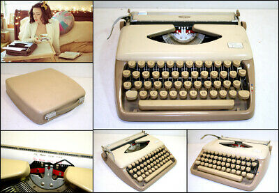 Vintage 1960's Triumph Tippa Portable Typewriter with Carry Case & New Ribbon