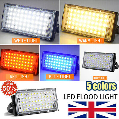LED Security Floodlight 50W Flood Lights Indoor Outdoor Garden Waterproof Lamp~