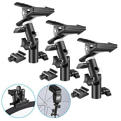 Neewer 3 Packs Photo Studio Heavy Duty Metal Clamp Holder and Cold Shoe Adapter