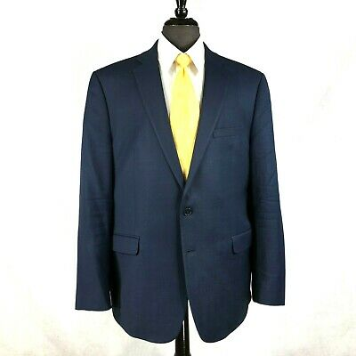 Calvin Klein Extreme Slim Fit mens dark blue wool blazer jacket 44R to 46R