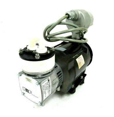 Used Knf Neuberger Un726 Fti Vacuum Pump 2Cx4-48416 115/230V .16Hp W1603-3