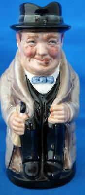 "Royal Doulton Sir Winston Churchill Toby Character Jug 5"" Unrecorded Size"