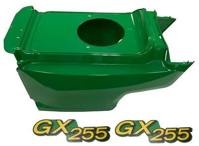 New Lower Hood & Set of 2 Decals Replaces AM132688 M149592 Fits John Deere GX255