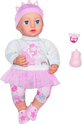 Baby Annabell Sweet Dreams Mia 43cm Doll With Outfit, Bottle & Dummy