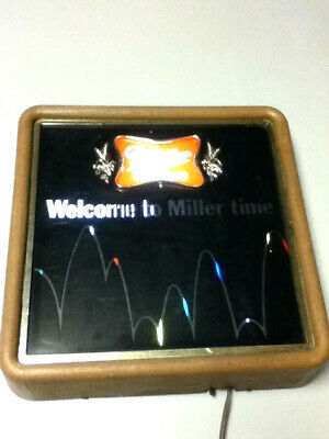 Miller beer sign 1983 lighted wall vintage light motion spinning bouncing ball 1