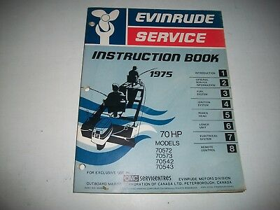 1975 Evinrude ( Johnson) Outboard 70 Hp Service Shop Repair Instruction Manual