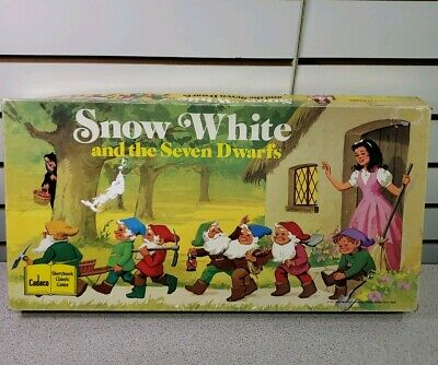 Snow White and the Seven Dwarfs Cadaco Storybook Classic Game FREE SHIP