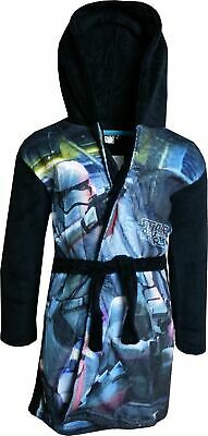 Boys DHQ2062 Star Wars Soft Fleece Hooded Dressing Gown 4 Years