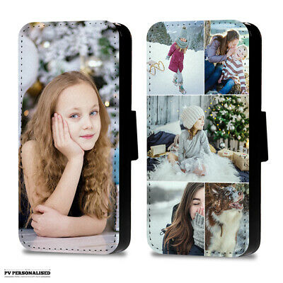 Personalised Photo Flip Wallet Phone Case Collage Cover For Apple Iphone Samsung