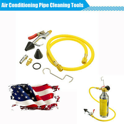 US Shipping 1 Set Car Air Conditioning Pipe Cleaning Tool A/C Flush Canister Kit