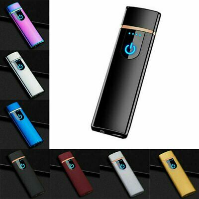 Smart Electric Lighter Touch Sensor USB Rechargeable Double Arc Flameless US