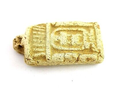 Ancient Egyptian Civilization Amulet Egyptian Antique Stone Hieroglyphic Faience