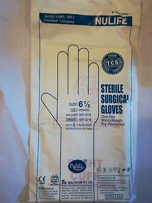 🇬🇧🇬🇧Latex surgical sterilised Gloves Nulife triple strength quality assured