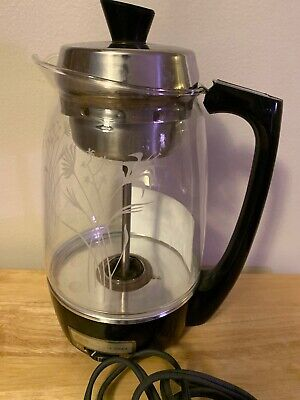 Vintage Proctor Silex Model 70503 Electric Glass Coffee Percolator 5-11 Cup