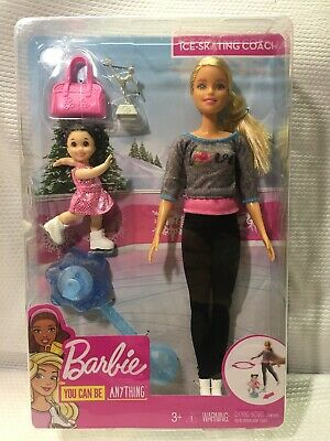 Mattel Fxp38 Career Barbie Ice Skate Coach You Can Be Anything Age 3+