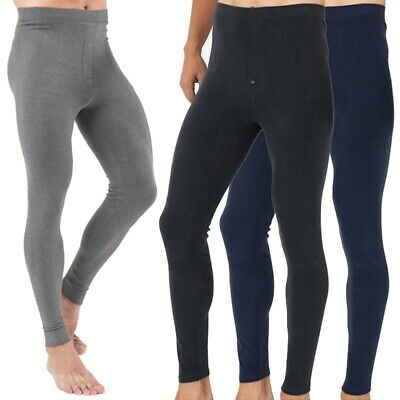 Mens Long Johns Thermal Underwear Thick Warm Bottom Pants Cotton Casual Trousers