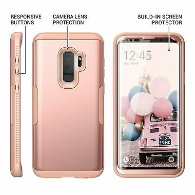 Samsung Galaxy S9+ Plus Case With Built-in Screen Protector Heavy Duty Full Body