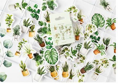 1 Box Funny Green Plant Sticker / Bag Sealer / Scrapbooking Diary DIY Decor