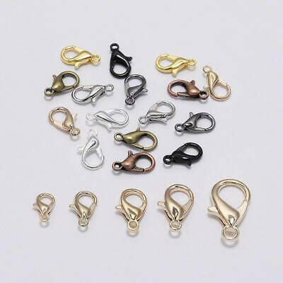 50pcs Alloy lobster Clasp Hooks For Necklace Bracelet Jewelry Making Findings