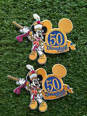Lot of 2 Mickey Mouse Disneyland Cartoon Character Embroidered Patch Iron on
