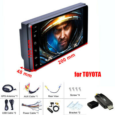 """7"""" HD Touch Screen Android 8.1 Car MP5 Player GPS + USB DAB Receiver for TOYOTA"""