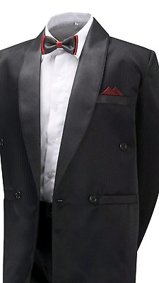 Boys-Black-Tuxedo-Suit-4-Piece-Prom-Cruise-Party-James 6 months- 15 years