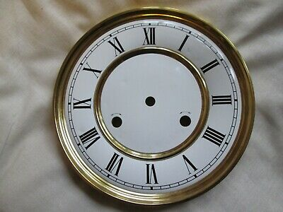 A Hermle/Kieninger Striking Wall Clock Dial With A Convex Chapter Ring