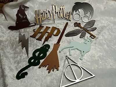 Harry Potter Themed Christmas Tree Decorations  Pack of 10 Hand Made & painted