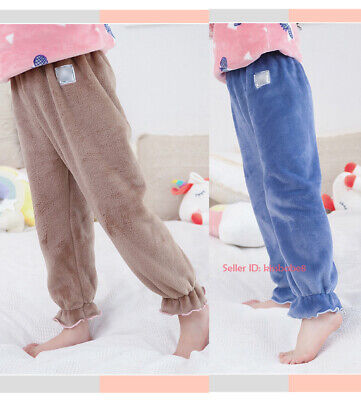 Kids Girls Flannel Pajamas Pants Fleece Nightwear Sleepwear Loungewear Trousers