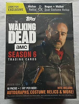 Topps the Walking Dead Season 6 Trading Cards Blaster Box 2017 Trading Cards
