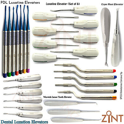 Luxating Tooth Extracting Root Elevators Osteotomes Concave Tip Implant Surgery