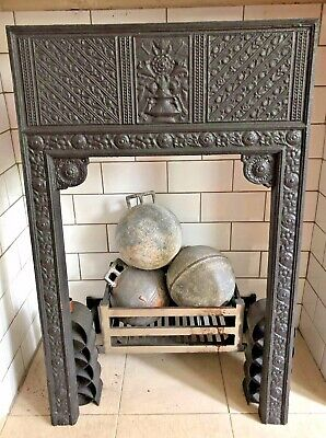 Thomas Jeckyll Aesthetic Movement Cast Iron Fireplace insert surround