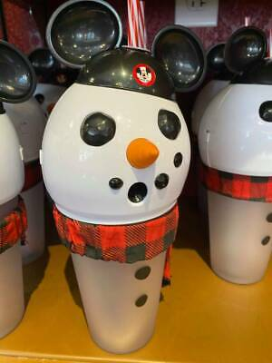 Disney Parks Snowman Mickey Lightup Sipper Cup